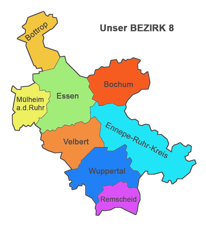 Karte Kanu-NRW Bezirk 8